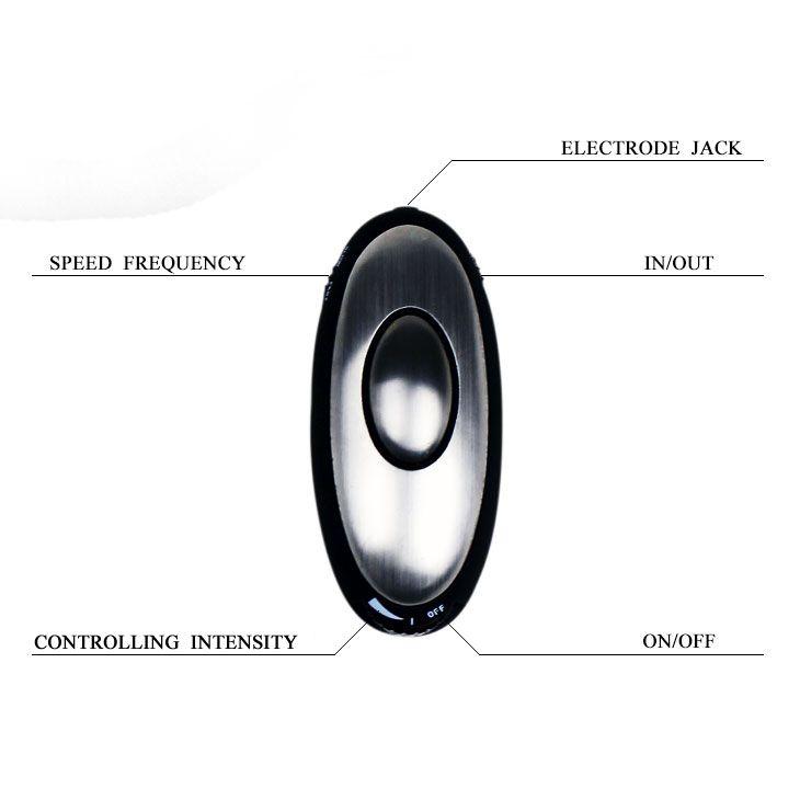 Анальная пробка с электростимуляцией E-passion Plug - 7,4 см. - фото 118954
