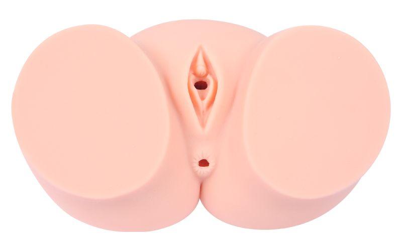 Мастурбатор-полуторс Cherry с вибрацией и двумя любовными тоннелями - фото 8990