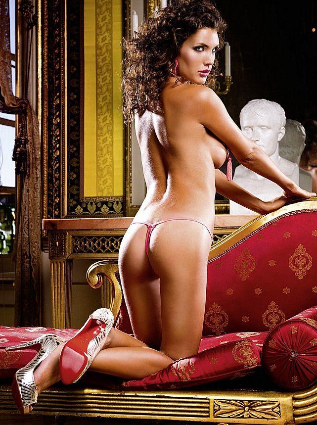 Ярко-розовые трусики-стринг с низкой талией Neon Barock - фото 286266