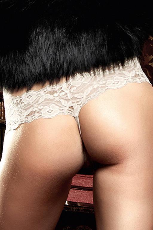 Кружевные стринги цвета слоновой кости Agent Of Love - фото 286732