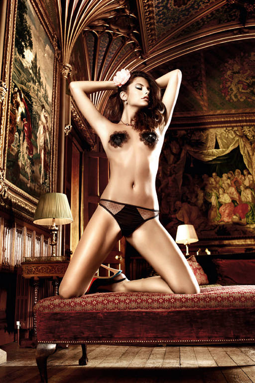 Черные стринги с матовыми вставками Dolce Vita - фото 212596