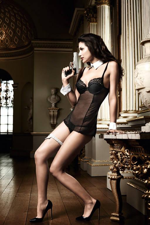 Черное платьице из тюлевой ткани с лифом на косточках Agent Of Love - фото 213093