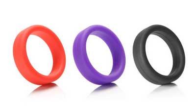 Фиолетовое силиконовое эрекционное кольцо