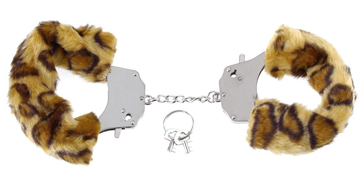 Наручники металлические с гепардовым мехом Original Furry Cuffs - фото 133538