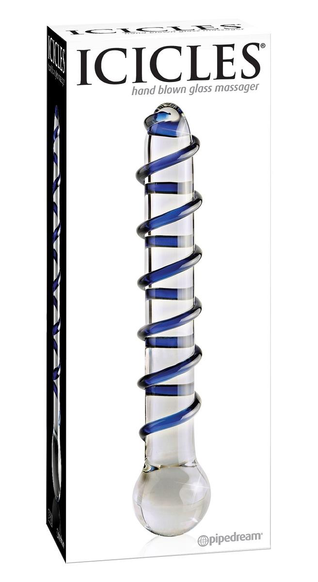 Анальный стеклянный стимулятор ICICLES № 3 - 19,7 см. - фото 314153
