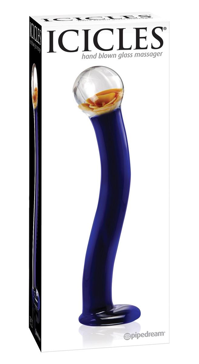 Стеклянный анальный стимулятор ICICLES № 17 - 20,3 см. - фото 240652