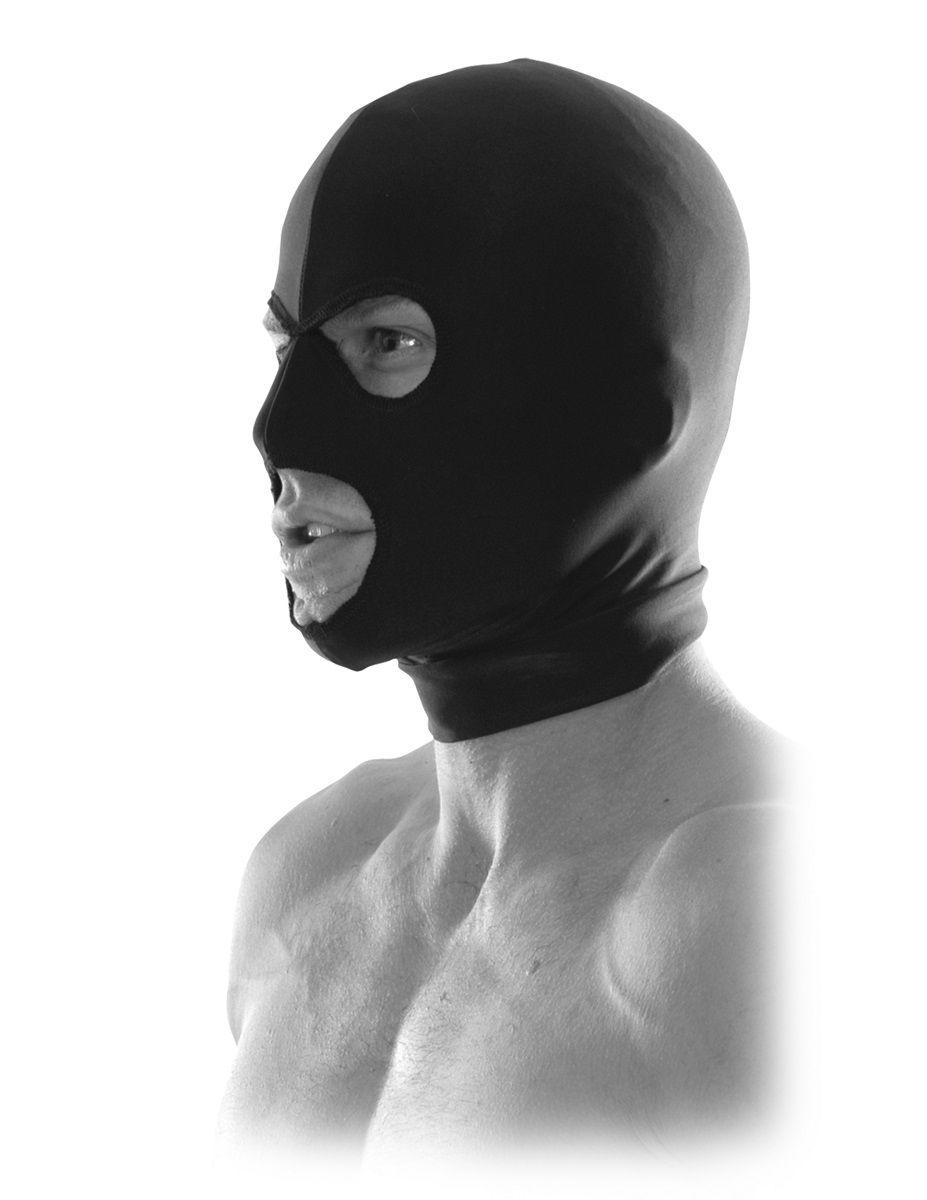 Черная маска на голову Spandex Hood - фото 186310
