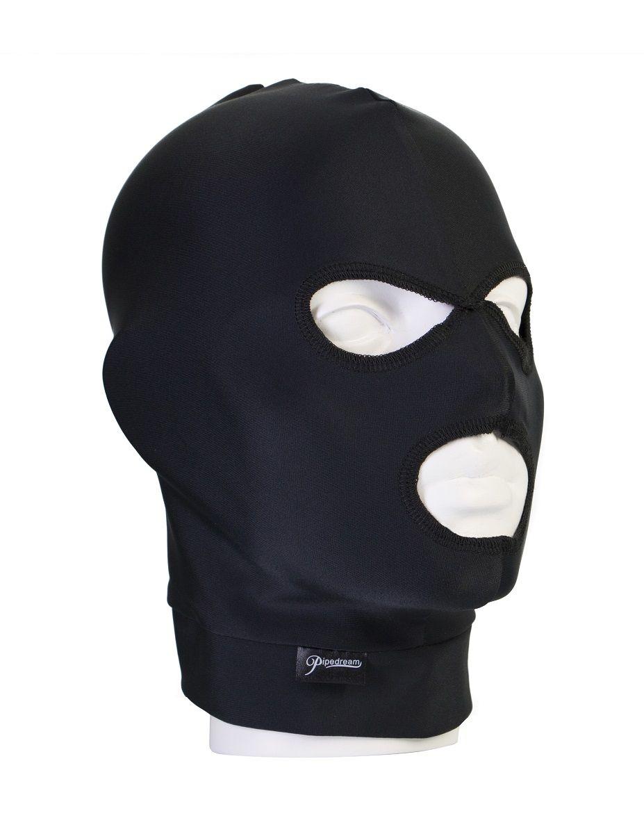 Черная маска на голову Spandex Hood - фото 186311