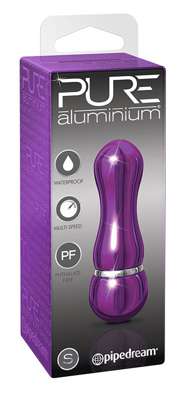 Фиолетовый алюминиевый вибратор PURPLE SMALL - 7,5 см. - фото 9352