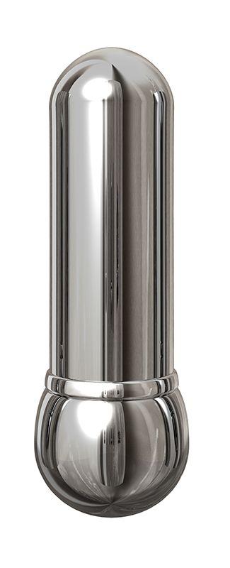 Алюминиевый вибратор SILVER SMALL - 7,5 см. - фото 296301