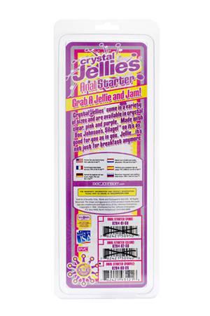 Стимулятор Cristal Jellies Anal Starter - 15 см. - фото 288850