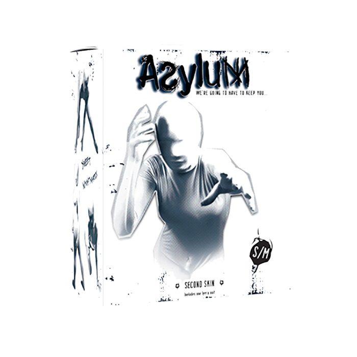 Белый кэтсьюит Asylum с маской на голову размера S/M - фото 711967