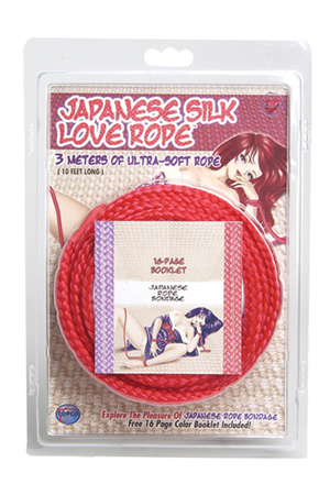 Красная веревка для фиксации Japanese Silk Love Rope - 3 м. - фото 711971