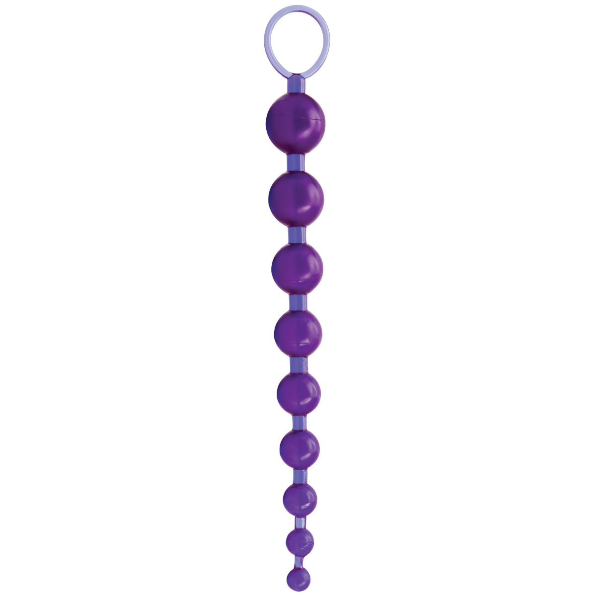 Фиолетовая анальная цепочка Sex Please! Sexy Beads - 27,9 см. - фото 711985