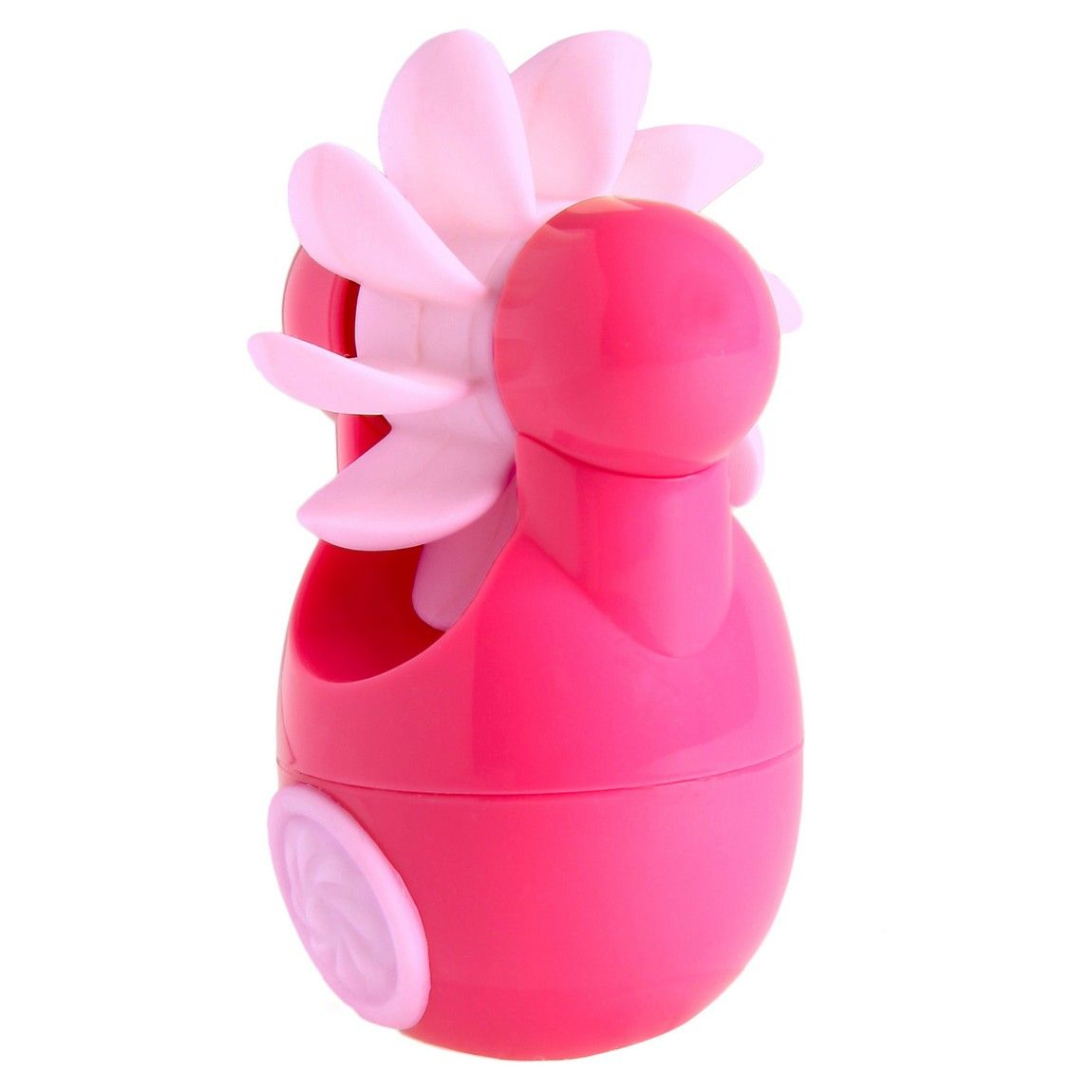 Розовый клиторальный стимулятор Sqweel Go Pink - фото 450880