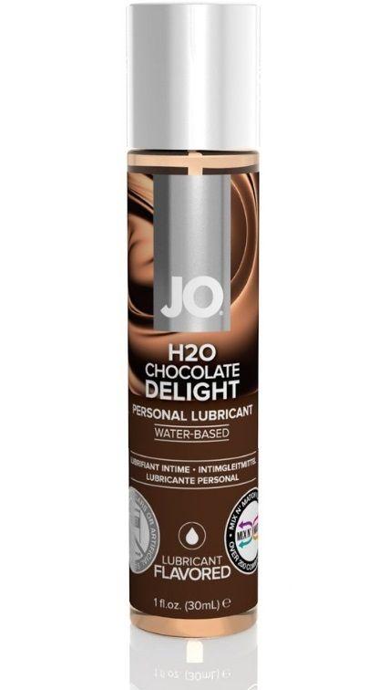 Ароматизированный лубрикант JO Flavored Chocolate Delight - 30 мл. - фото 180793