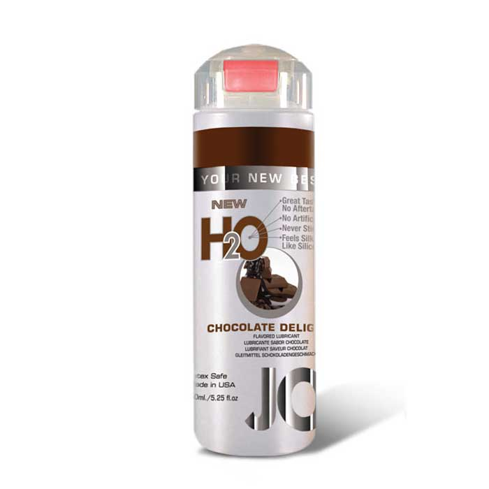 Лубрикант на водной основе с ароматом шоколада JO Flavored Chocolate Delight - 150 мл. - фото 314378