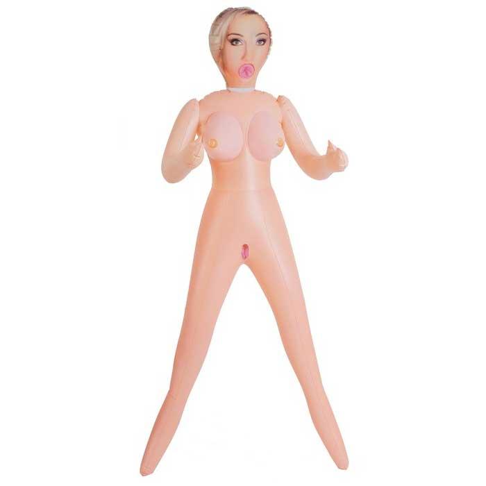 Надувная секс-кукла без вибрации - фото 314393