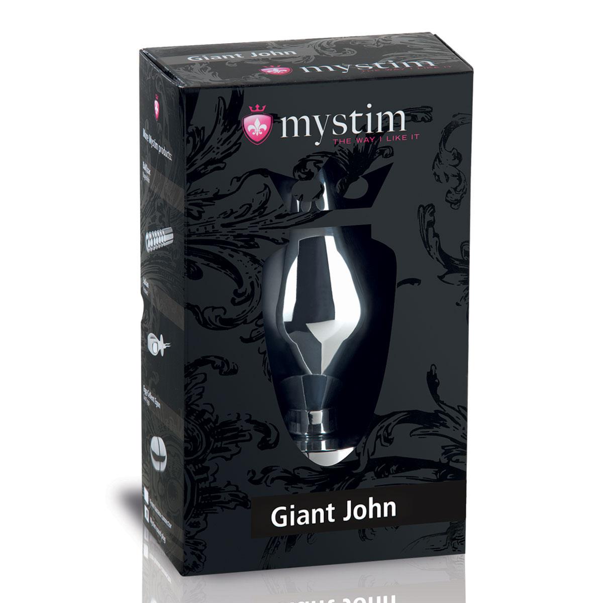 Анальный электростимулятор Giant John размера XXL - 16 см. - фото 119898