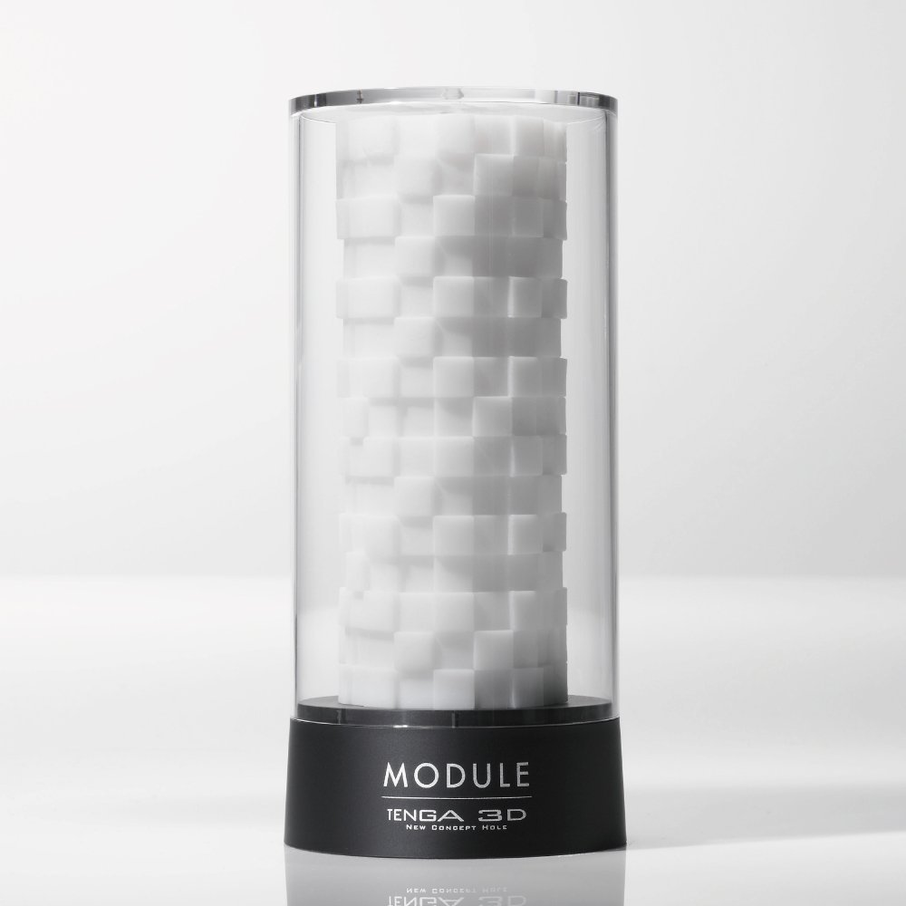 Белый 3D мастурбатор MODULE - фото 134307