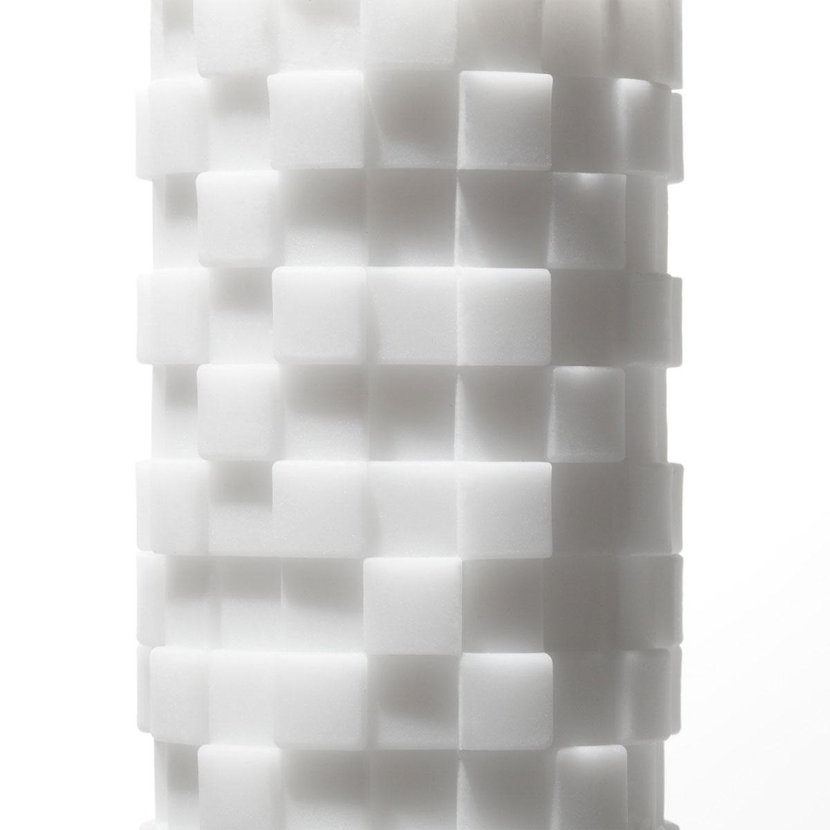 Белый 3D мастурбатор MODULE - фото 134308