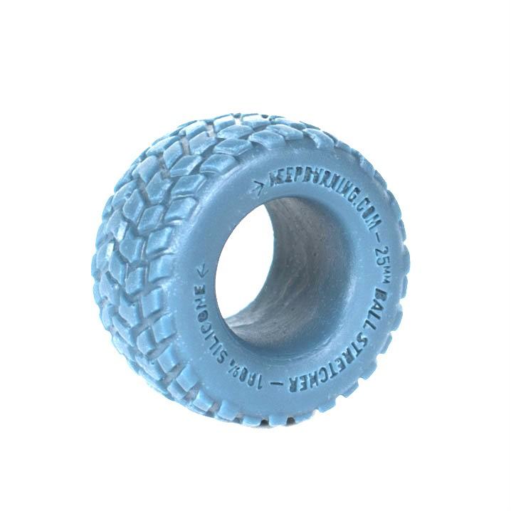 Эрекционное кольцо в форме шины из голубого силикона - фото 216436