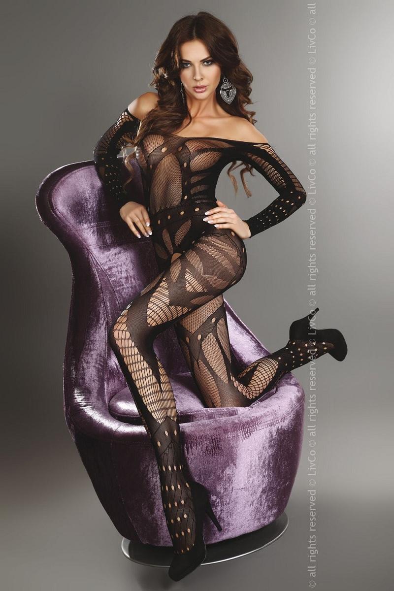 Сексуальный комбинезон Hassiba с изысканными узорами - фото 713850