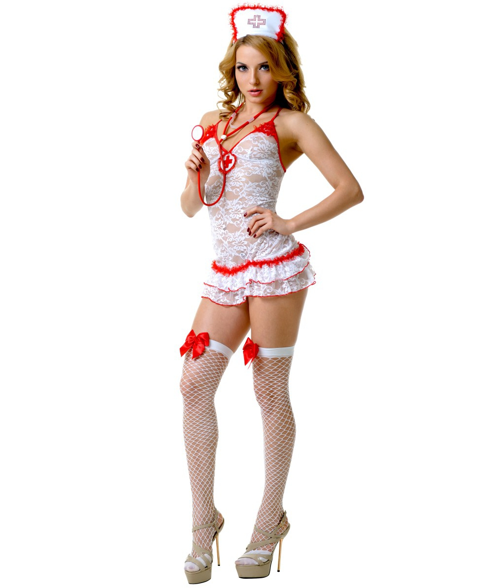 Кружевной костюм медсестры - фото 10111