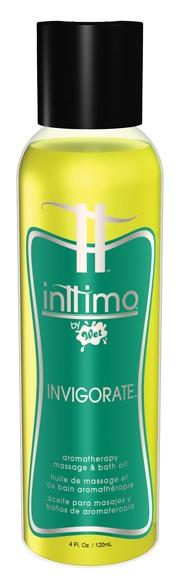 Масло для массажа Inttimo Invigorate с ароматом эвкалипта и лимона - 120 мл. - фото 134458