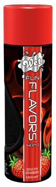 Разогревающий лубрикант Fun Flavors 4-in-1 Seductive Strawberry с ароматом клубники - 316 мл. - фото 134462