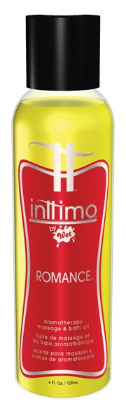 Масло для массажа Inttimo Romance с ароматом кедра и пачули - 120 мл. - фото 134468