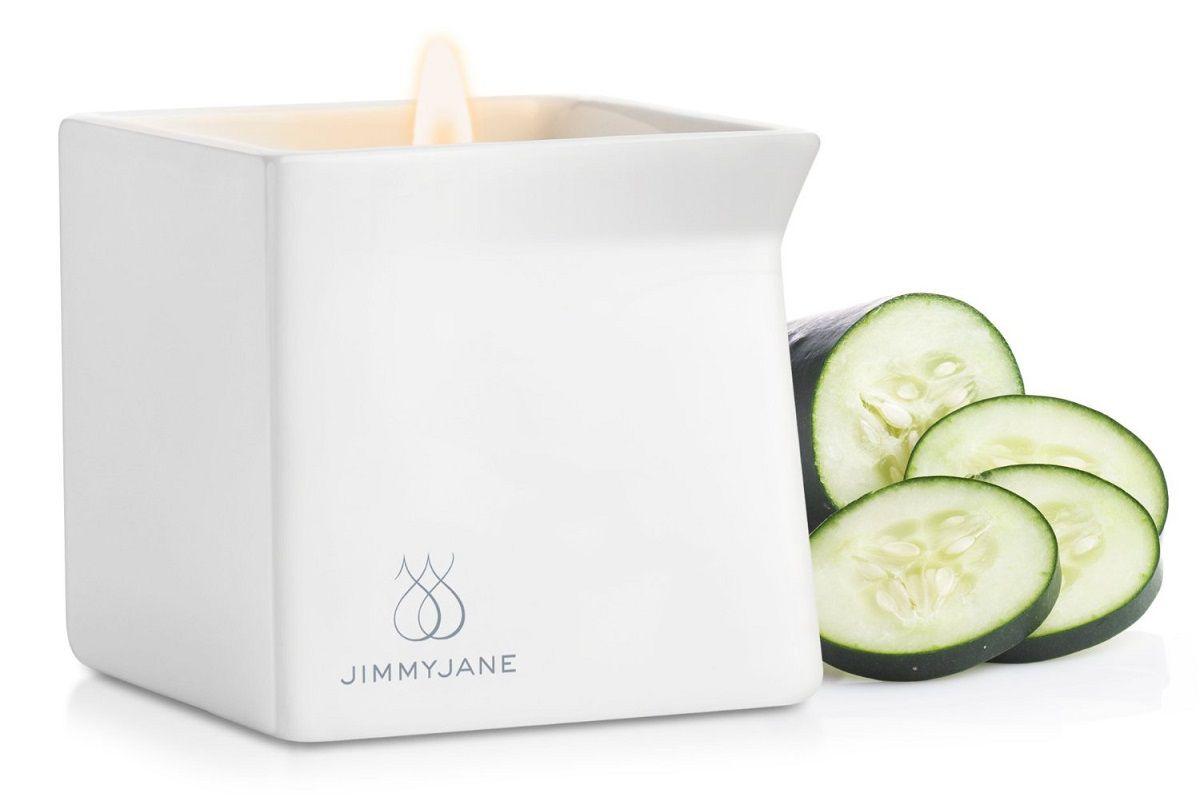 Массажная свеча JimmyJane Afterglow Massage Candle с ароматом огурца