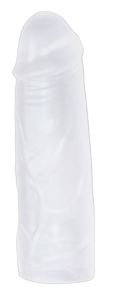 Удлиняющая прозрачная эластичная насадка Super Dick Sleeve - фото 824714