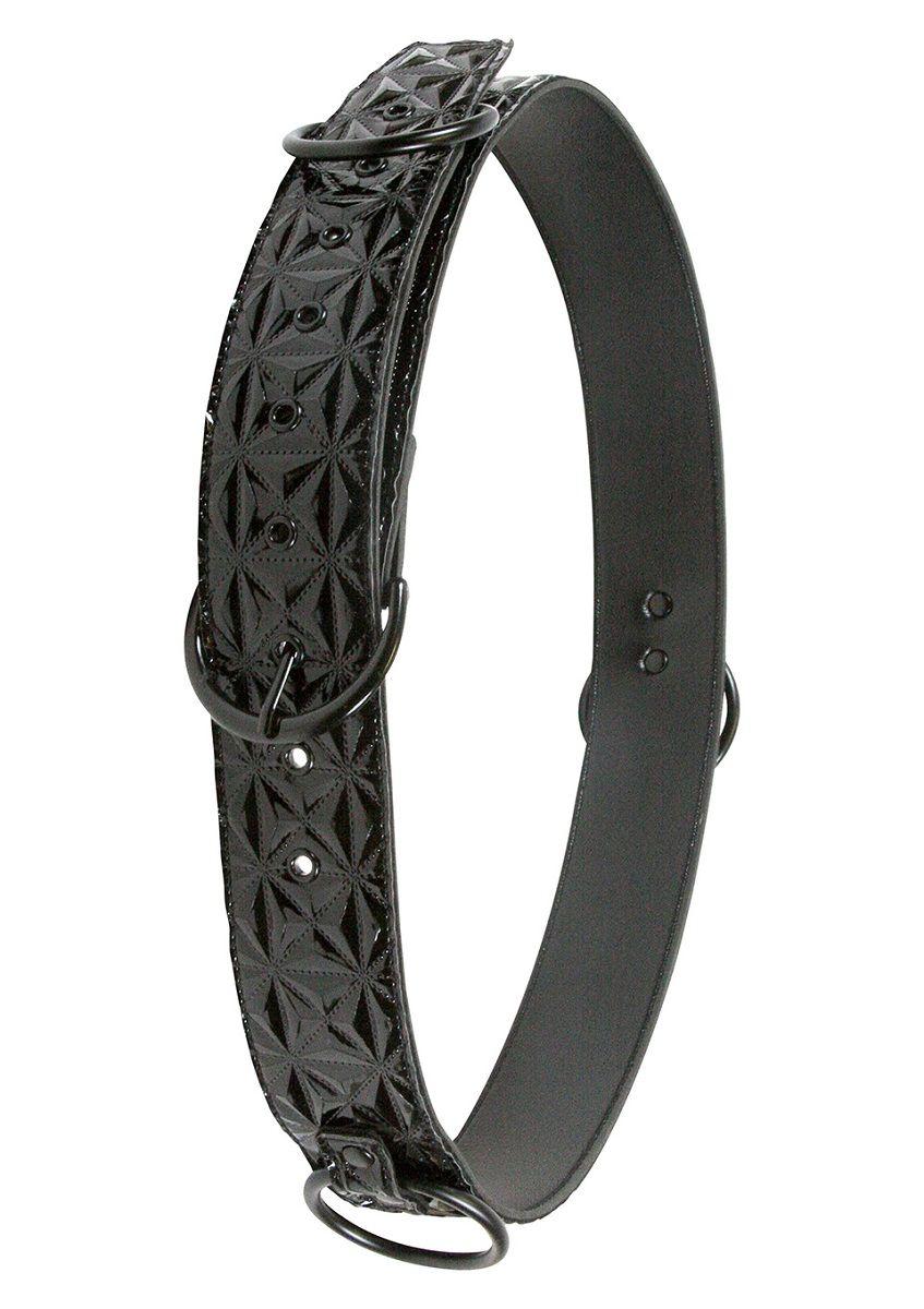 Чёрный ремень на пояс для фиксации манжет Sinful Black Restraint Belt - фото 1273747