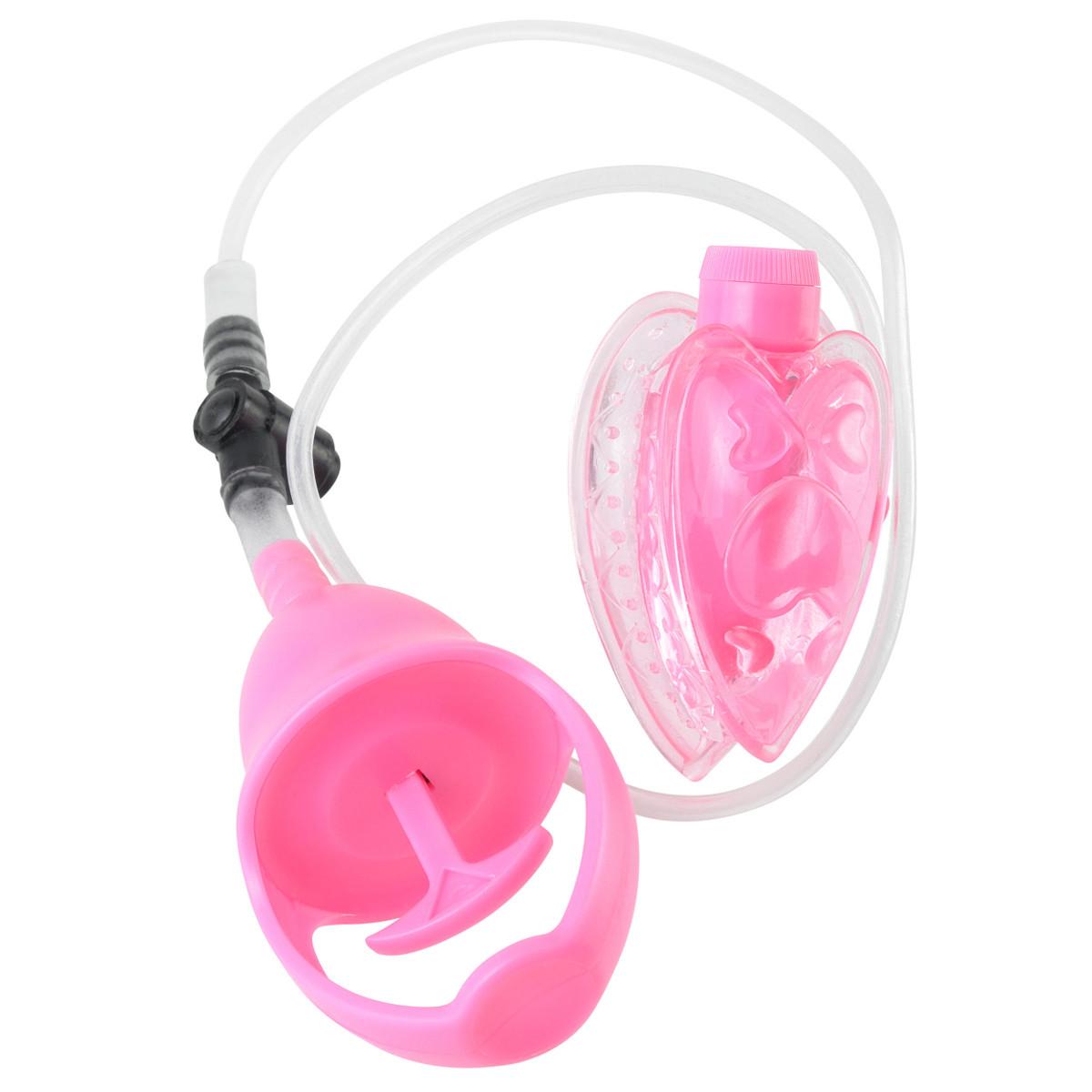 Вакуумная помпа с вибрацией Mini Pussy Pump Pink - фото 134744