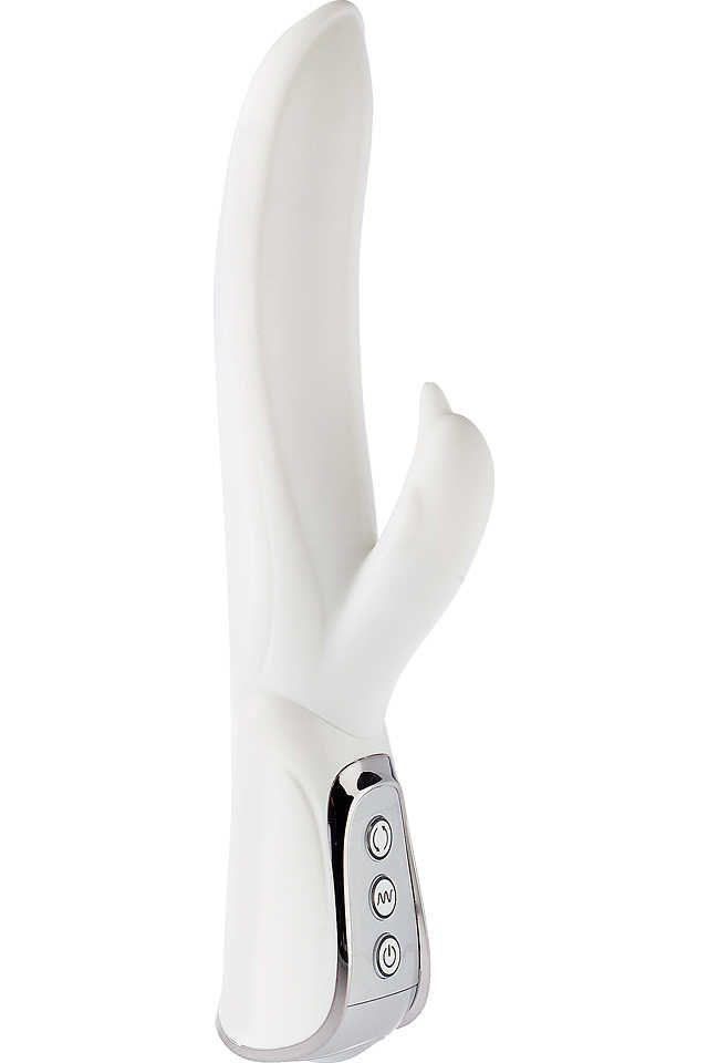 Белый вибратор VIBE THERAPY EXHILARATION - 23,5 см.