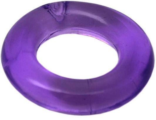 Фиолетовое гладкое эрекционное кольцо