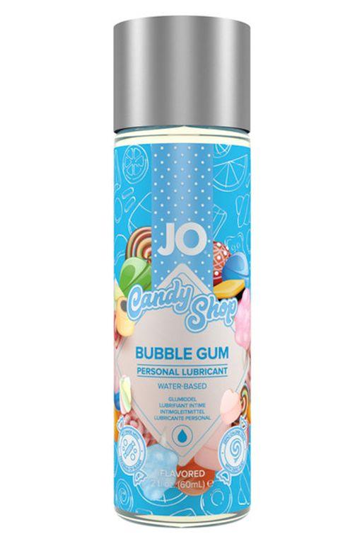 Смазка на водной основе Candy Shop Bubblegum с ароматом жвачки - 60 мл. - фото 341294