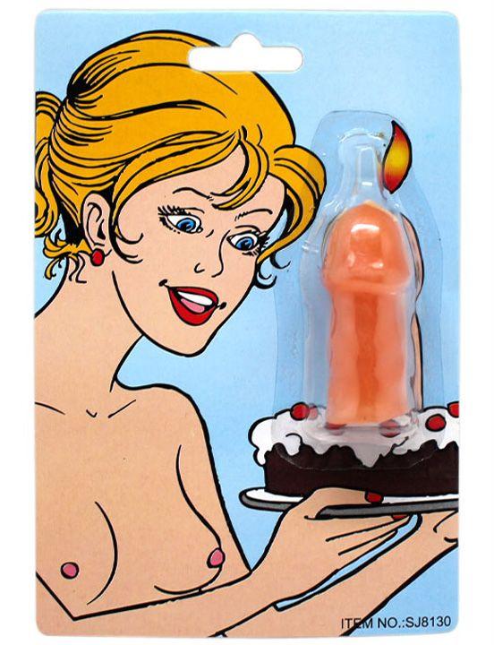Свечка на торт  Шалун  в форме пениса
