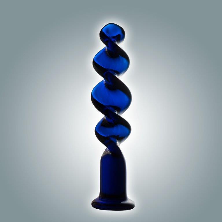 Синий винтовой стимулятор - 18 см. - фото 1186129