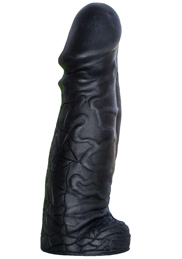 Чёрный фаллоимитатор-гигант DESPOT - 28 см. - фото 221197