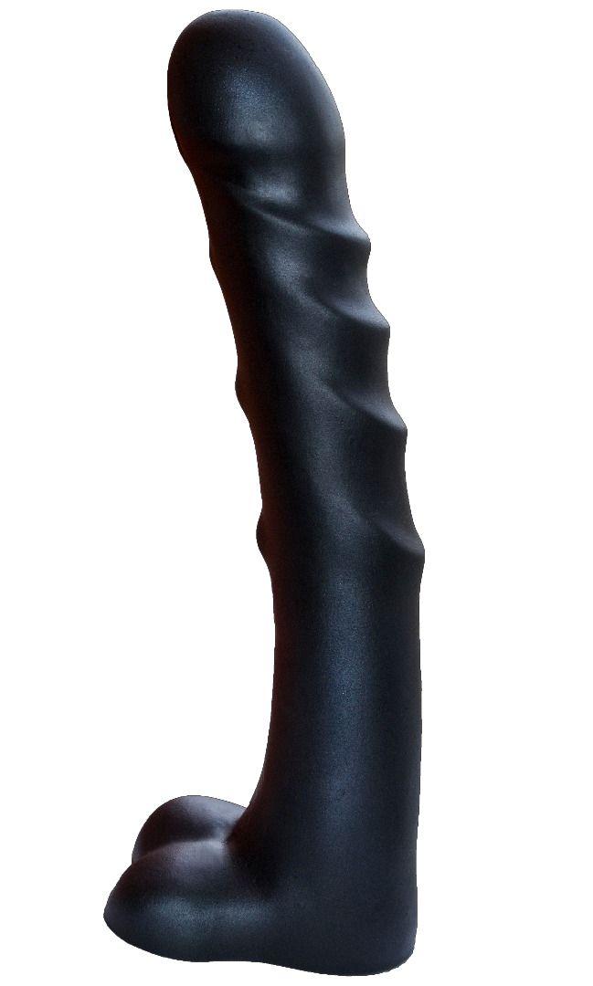 Чёрный фаллоимитатор-гигант PREDATOR - 37 см. - фото 1187000