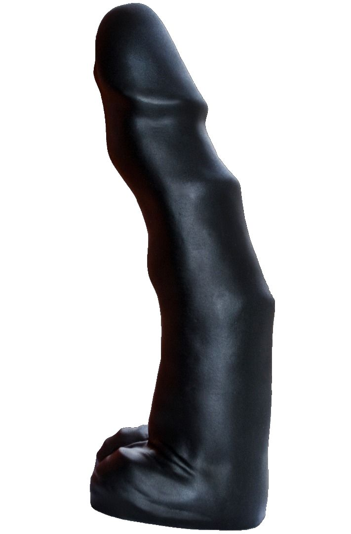 Чёрный фаллоимитатор-гигант TYRANT - 36 см.