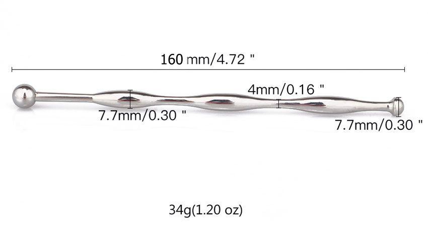 Металлический уретральный стимулятор - 16 см.