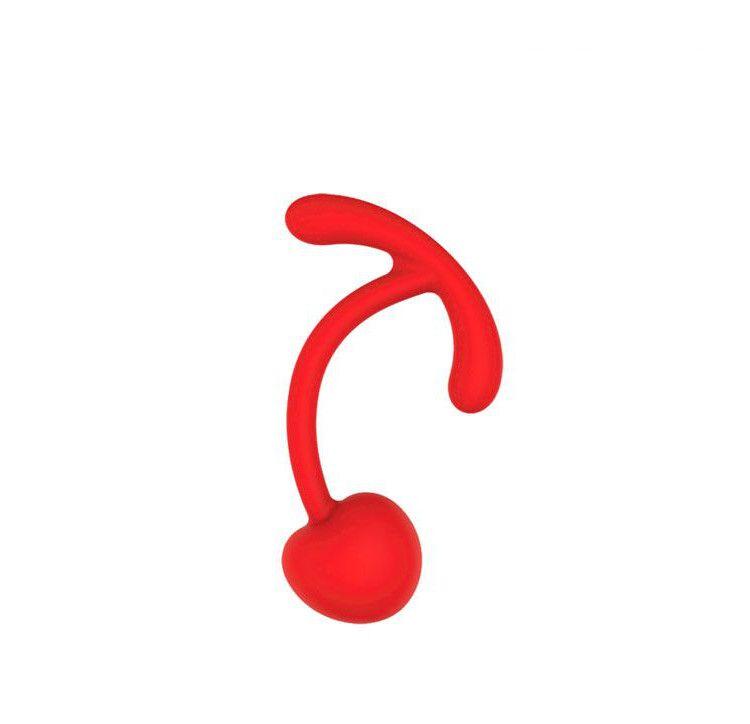 Красный вагинальный шарик с ограничителем