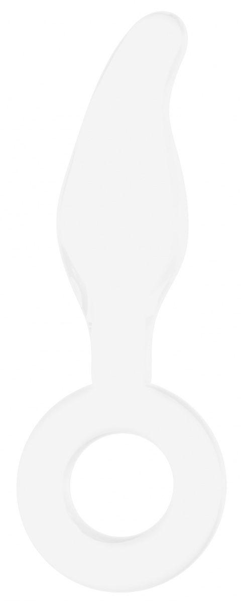 Белый анальный стимулятор Gripper - 17 см.