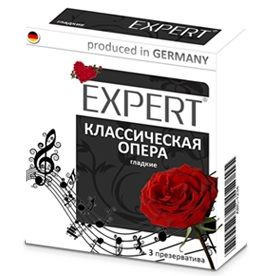 Гладкие презервативы Expert  Классическая опера  - 3 шт.