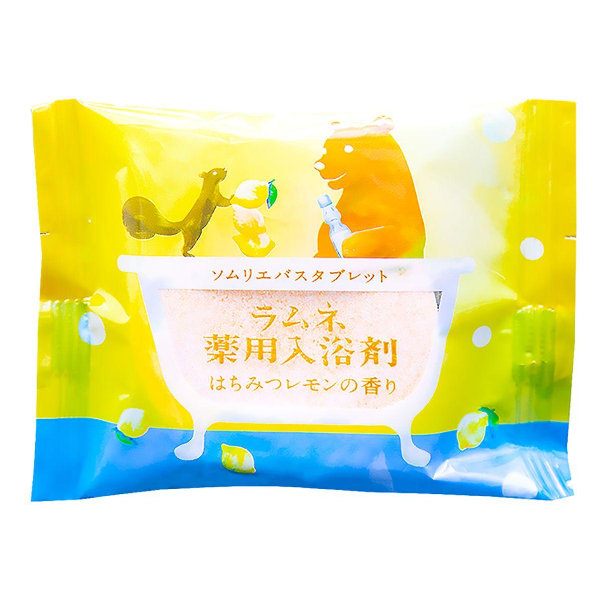 Расслабляющая соль-таблетка для ванны с ароматом меда и лимона - 40 гр.