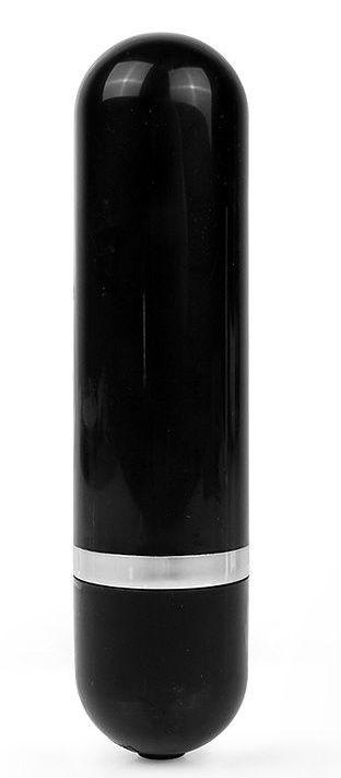 Черная удлиненная вибропуля Erokay - 11 см.