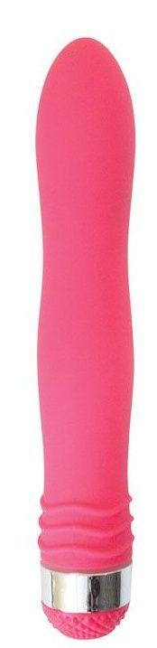 Розовый эргономичный вибратор Sexy Friend - 17,5 см.